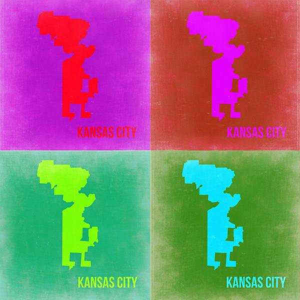 Wall Art - Painting - Kansas Pop Art Map 2 by Naxart Studio
