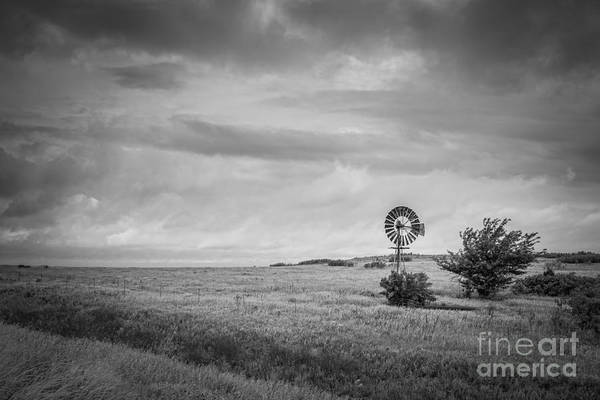 Photograph - Kansas Prairie Bw by Michael Ver Sprill