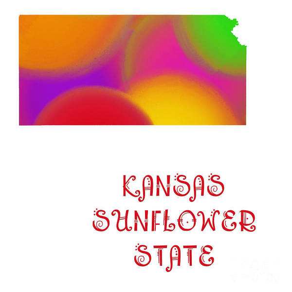 Digital Art - Kansas State Map Collection 2 by Andee Design