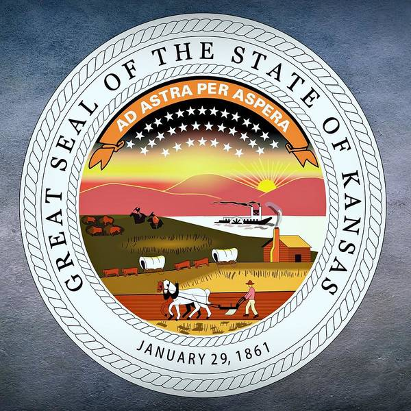 Digital Art - Kansas State Seal by Movie Poster Prints