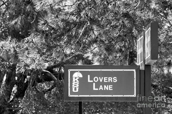 State College Photograph - Kansas State University Lovers Lane by University Icons