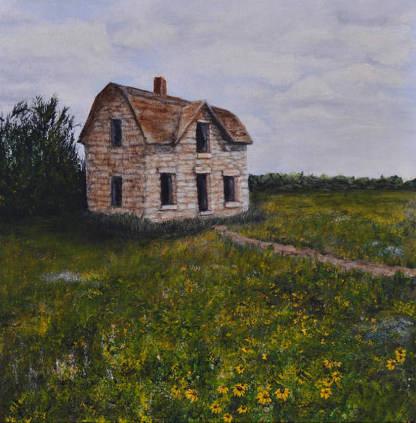 Painting - Kansas Stone House by Nancy Lauby