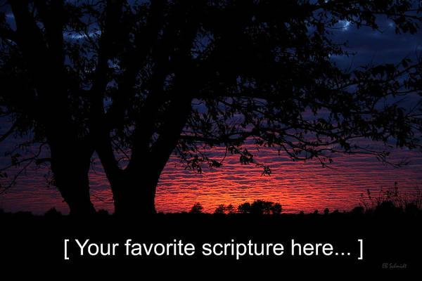 Photograph - Kansas Sunset - Customizable by E B Schmidt