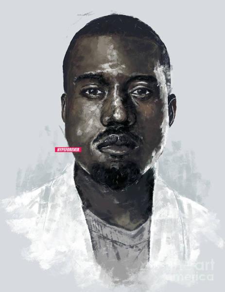 Wall Art - Digital Art - Kanye West by Alexis Seeney