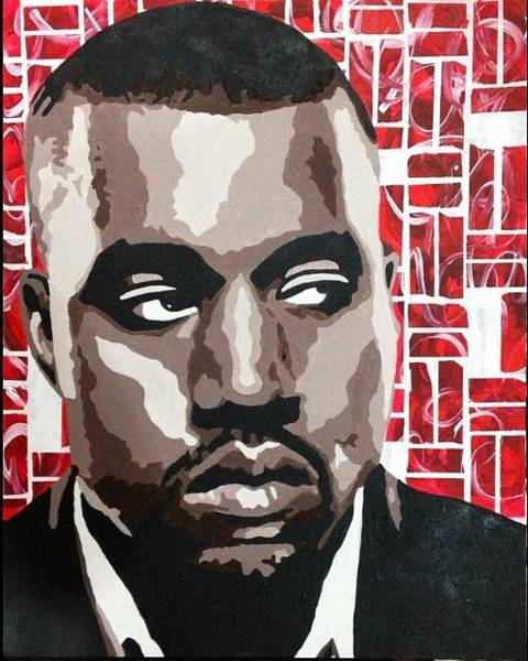 Kanye West Poster Wall Art - Painting - Kanye West by Melanie Chu