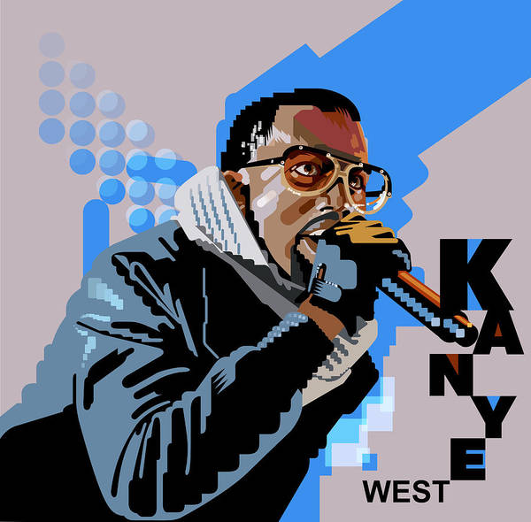 Wall Art - Digital Art - Kanye West Portrait by Garth Glazier