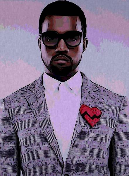 Rap Mixed Media - Kanye West Poster by Dan Sproul