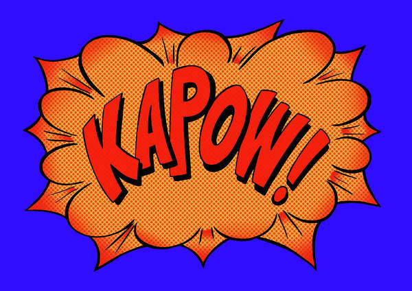 Text Digital Art - Kapow Comic Book Text Sound Effect by Jacquie Boyd