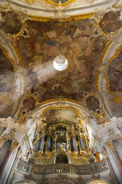 Photograph - Kappele Wurzburg Organ And Ceiling by Jenny Setchell