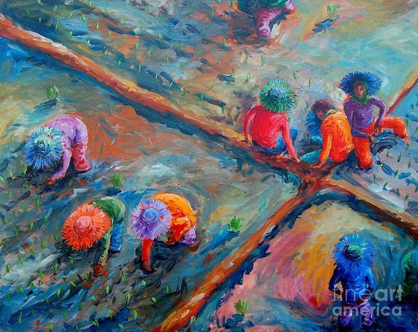 Rice Wall Art - Painting - Kapuy by Paul Hilario