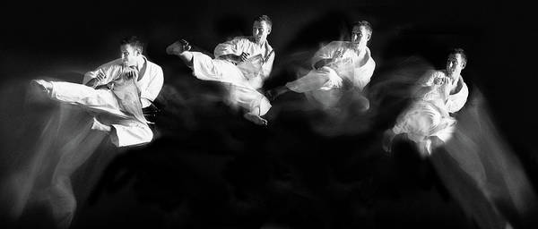 Jumping Photograph - Karate #1 by Hilde Ghesquiere