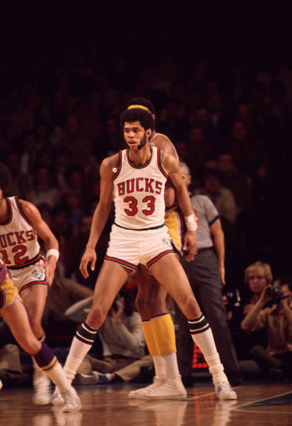 Wall Art - Photograph - Kareem Abdul Jabbar Looking For Pass by Retro Images Archive