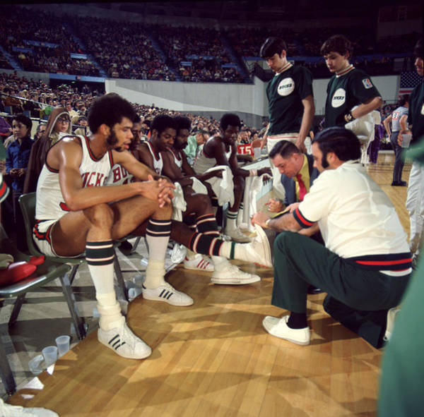 Wall Art - Photograph - Kareem Abdul Jabbar Resting by Retro Images Archive
