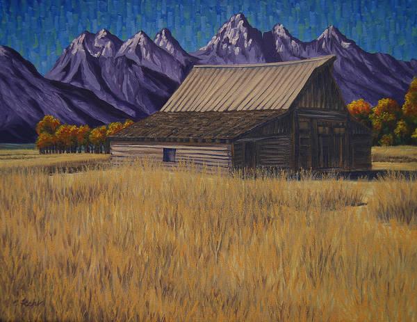 Painting - Karen's Teton Barn by Cheryl Fecht