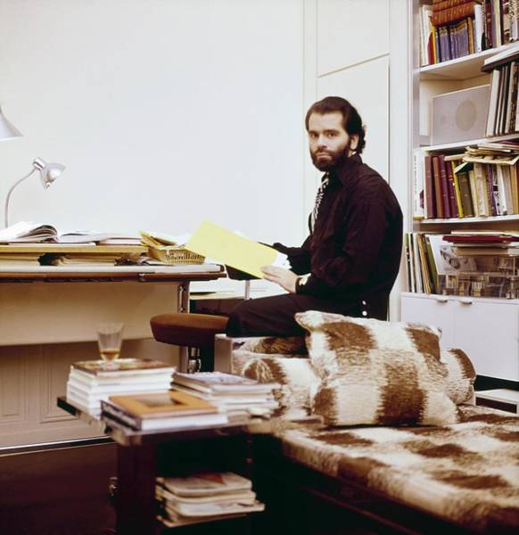 Desk Photograph - Karl Lagerfeld At Home by Horst P. Horst