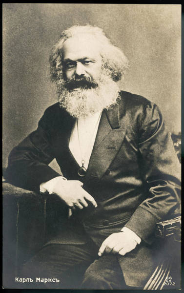 Wall Art - Photograph - Karl Marx  German Radical Political by Mary Evans Picture Library