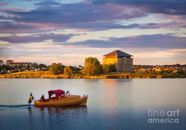 Sverige Photograph - Karlskrona Boat by Inge Johnsson