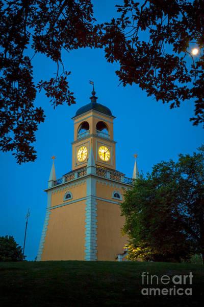 Sverige Photograph - Karlskrona Clocktower by Inge Johnsson