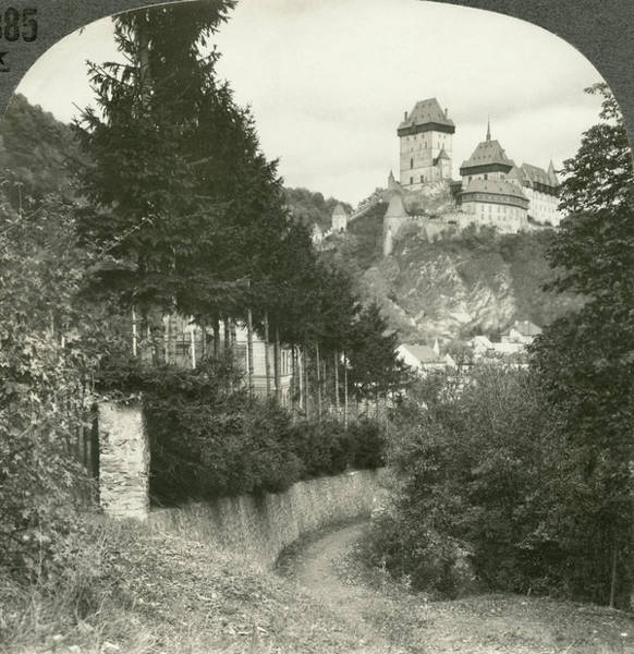Wall Art - Painting - Karlstejn Castle, C1900 by Granger