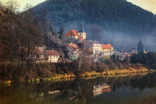 Photograph - Karlstejn River Reflections by Joan Carroll