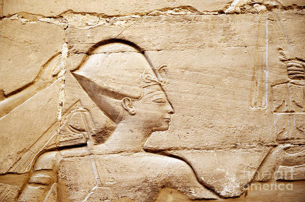 Photograph - Karnak Bas-relief by Brenda Kean