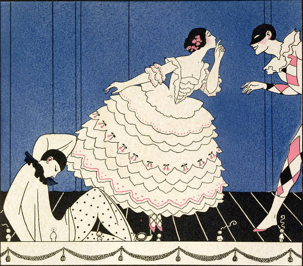 Stencil Painting - Karsavina by Georges Barbier
