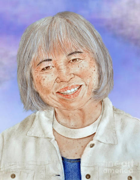 Freckle Drawing - Karyl Matsumoto Mayor Of So San Francisco Version II by Jim Fitzpatrick