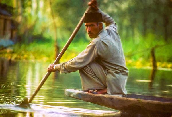 Dal Lake Photograph - Kashmir Dream Impasto by Steve Harrington