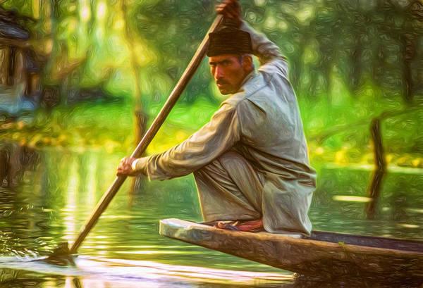 Dal Lake Photograph - Kashmir Dream - Paint by Steve Harrington