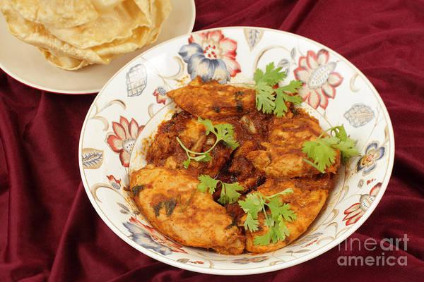 Photograph - Kashmiri Chicken And Pappadums by Paul Cowan