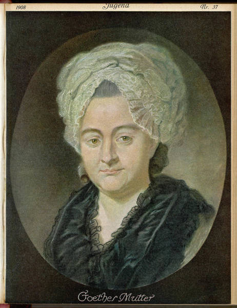 Wall Art - Drawing - Katarina Elisabeth Goethe (1731 - 1808) by Mary Evans Picture Library