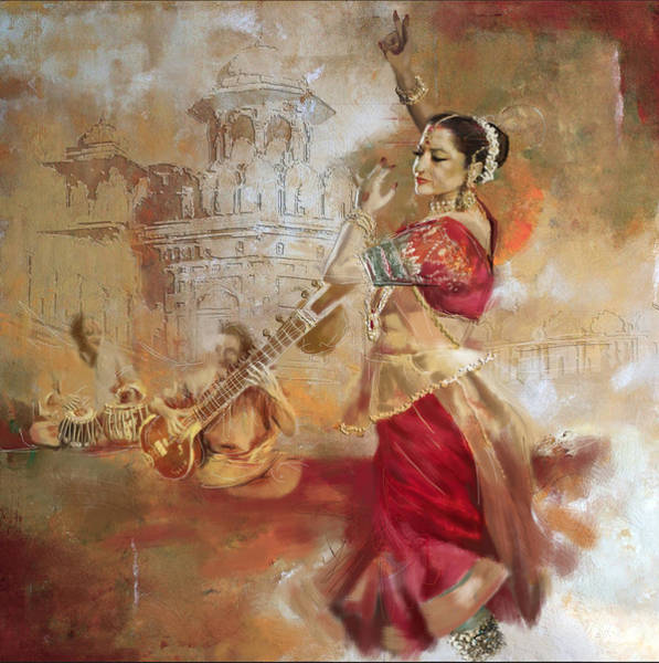 Bollywood Wall Art - Painting - Kathak Dancer 8 by Corporate Art Task Force