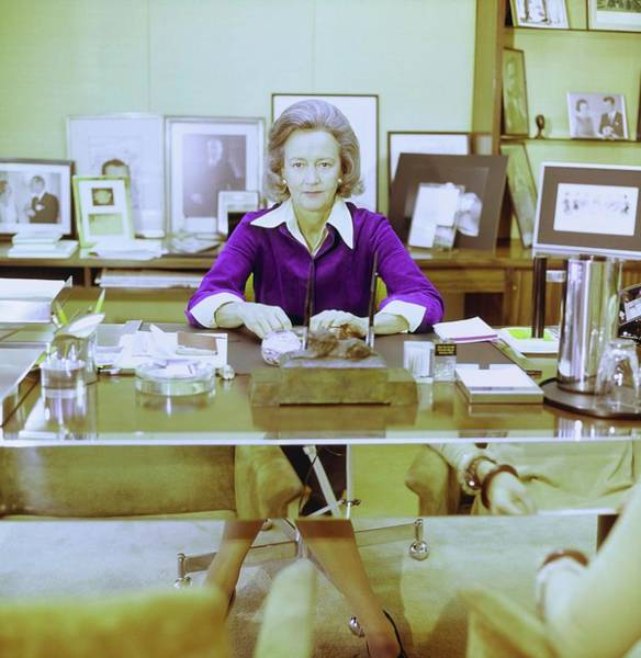 Office Furniture Photograph - Katherine Graham In Her Office by Horst P. Horst