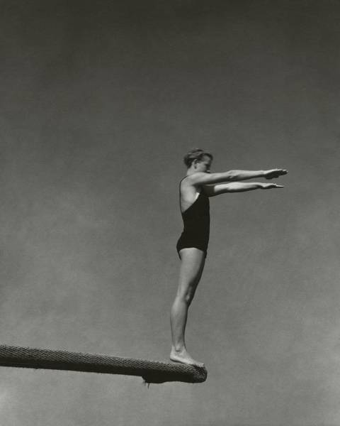 Ethnicity Photograph - Katherine Rawls Getting Ready To Dive by Edward Steichen