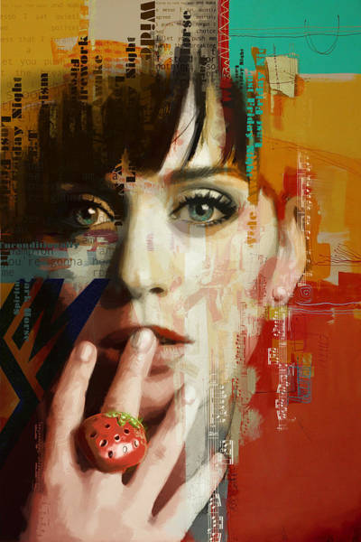 Wall Art - Painting - Katy Perry by Corporate Art Task Force