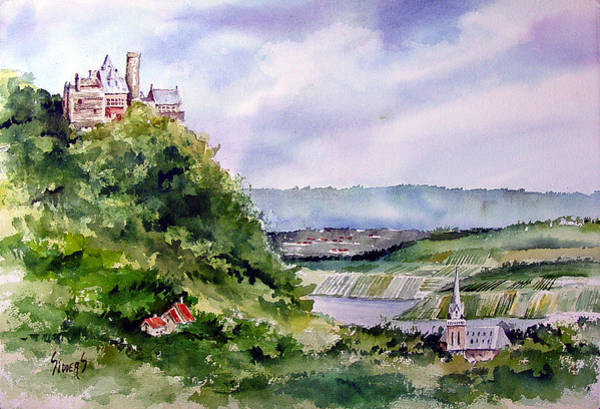 Castles Painting - Katz Castle by Sam Sidders