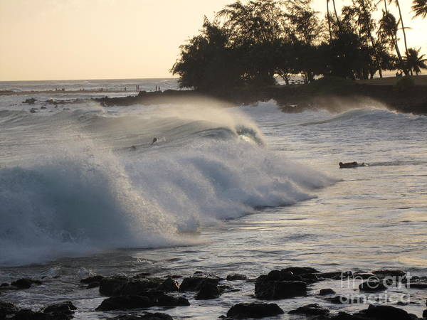 Photograph - Kauai - Brenecke Beach Surf by HEVi FineArt