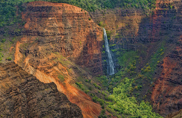 Waimea Canyon Photograph - Kauai, Hawaii Waimea Canyon State Park by Bill Bachmann