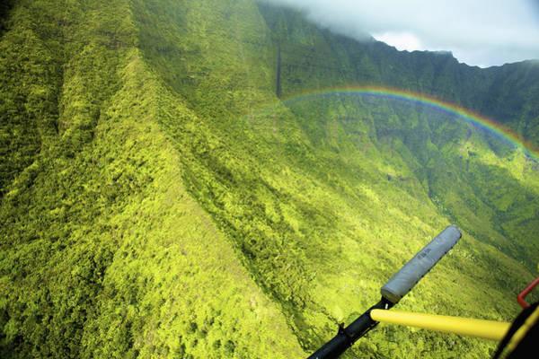 Wall Art - Photograph - Kauai Helicopter Rainbow by Kicka Witte
