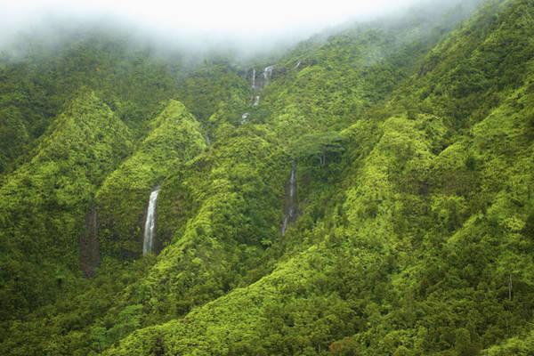 Wall Art - Photograph - Kauai Mountain Waterfalls by Kicka Witte