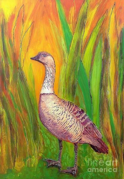 Painting - Kauai Nene by Anna Skaradzinska