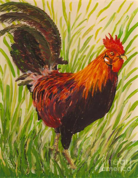 Painting - Kauai Rooster by Anna Skaradzinska