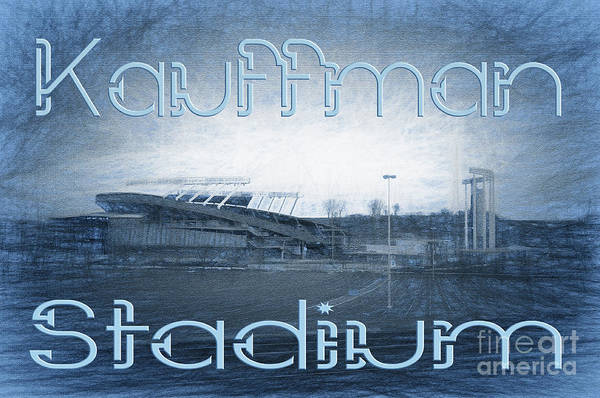 Mixed Media - Kauffman Stadium by Andee Design