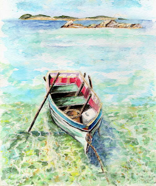 Painting - Kavala Row Boat by Tamyra Crossley