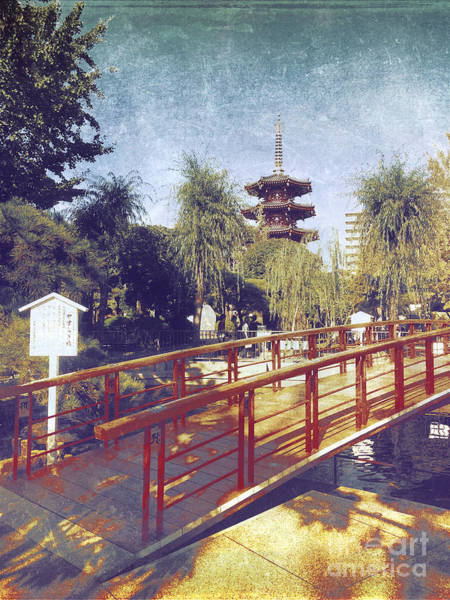 Photograph - Kawasaki Daishi Five-storied Pagoda And Bridge by Beverly Claire Kaiya