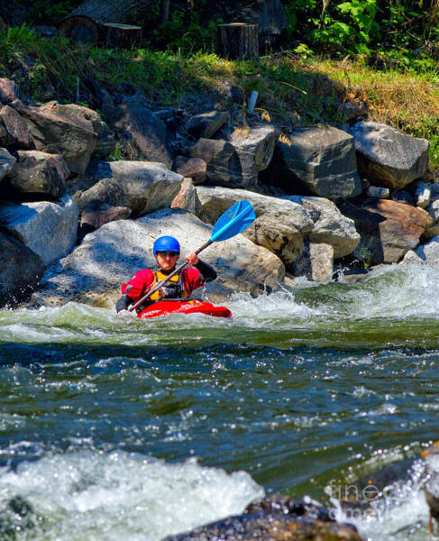Photograph - Kayaker On Rock River by Les Palenik