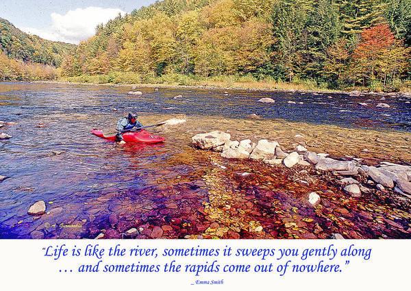 Kayaker Running A River Art Print