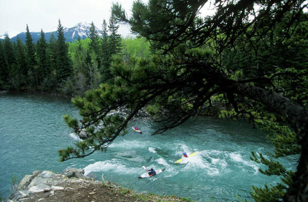 Glacial Photograph - Kayakers Play In Glacial River Waters by Todd Korol