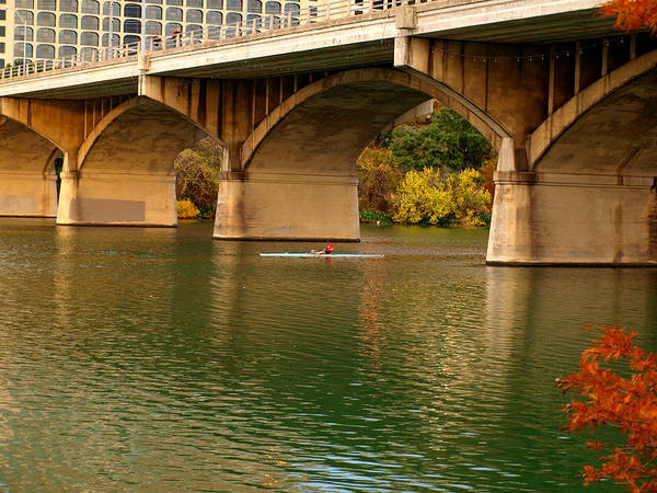 Photograph - Kayaking Austin's Ladybird Lake by James Granberry