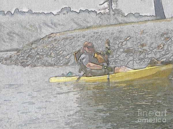 Lake Juliette Photograph - Kayaking  by Donna Brown